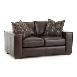 Tennison Leather Loveseat by Brayden Studio