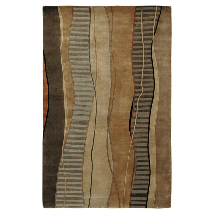 Red Barrel Studio Jamaris Abstract Hand Knotted Wool Gray Brown Area Rug Wayfair Ca