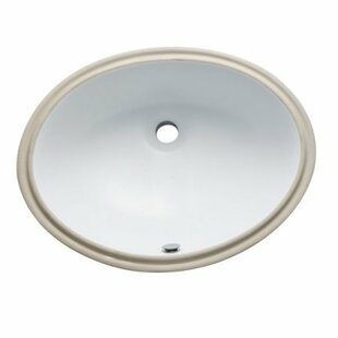 Find for Courtyard Ceramic Oval Undermount Bathroom Sink with Overflow ByKingston Brass