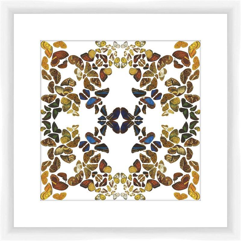 PTM Images Butterfly Kaleidoscope I Framed Graphic Art   Wayfair