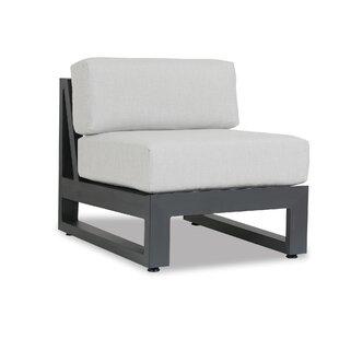 Redondo Armless Patio Chair with Sunbrella Cushions