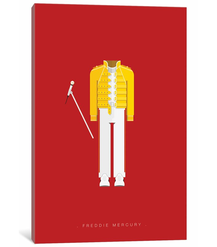 02d66aa08d4 East Urban Home  Famous Musical Costumes Series  Freddie Mercury  Graphic  Art Print on Canvas