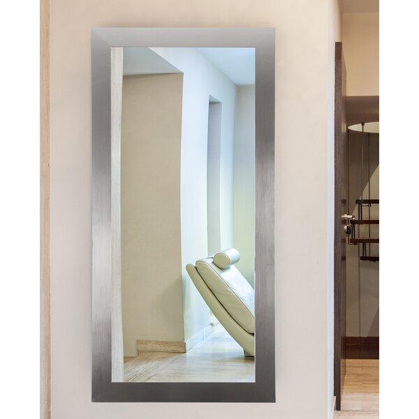 Silver Wall Mirrors latitude run modern silver wall mirror & reviews | wayfair