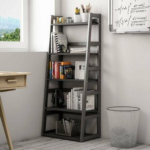 Ebern Designs Mosquera 5 Tier Ladder Bookcase with Strong Metal Frame