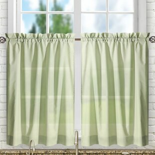 Green Kitchen Curtains | Green Valances Kitchen Curtains You Ll Love Wayfair