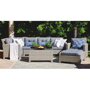 Dowdy Olefin 8 Piece Sectional Seating Group with Cushions