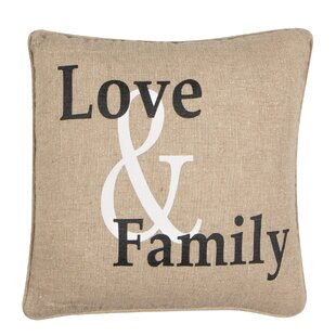 Chilmark Love and Family Throw Pillow
