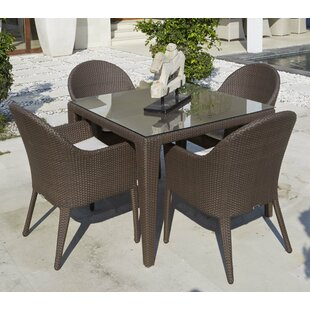 Beachcrest Home Mabel 5 Piece Dining Set with Cushions
