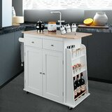 Dacula Rolling Kitchen Island by Gracie Oaks