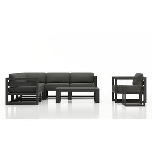 Remi 8 Piece Sectional Seating Group with Sunbrella Cushions