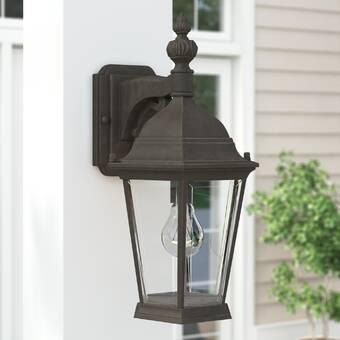 Loon Peak Fairhaven Espresso Bronze 1 Bulb Outdoor Wall Lantern Reviews Wayfair