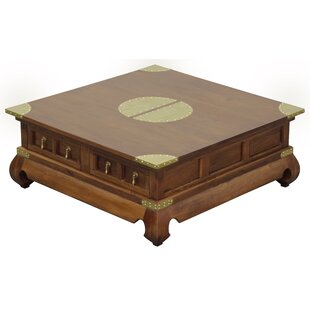 Becky Fine Handcrafted Solid Mahogany Wood Coffee Table by Bloomsbury Market