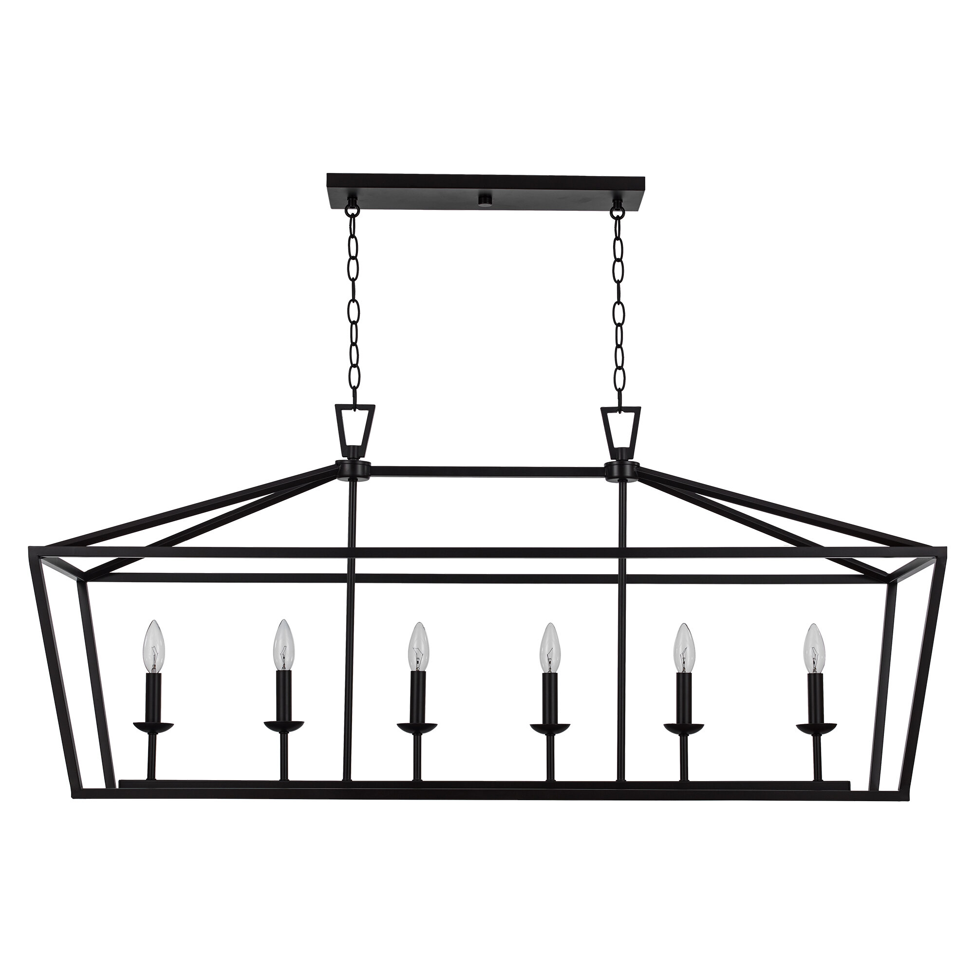 Laurel Foundry Modern Farmhouse Carmen 6 Light Kitchen Island Linear Pendant Reviews Wayfair