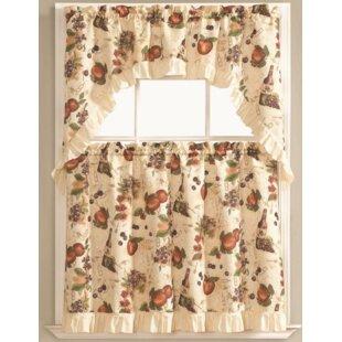 Bouzy Fruit Orchard Kitchen Curtain Set (Set Of 3)