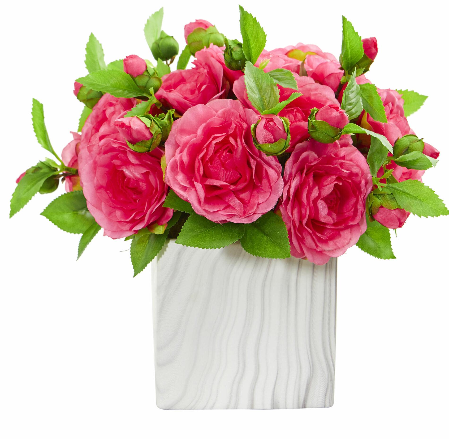 5 Carnations FUCHSIA PINK Silk Wedding Bouquet Centerpieces Flowers Decoration
