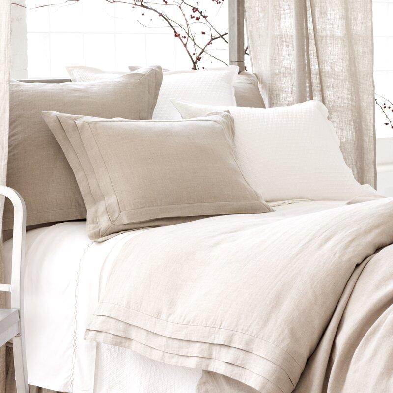 Natural Pleated Linen Duvet Cover Collection #linenduvet #Frenchlinen #linenbedding