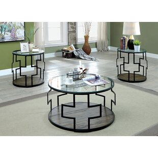 Carlos 3 Piece Coffee Table Set (Set of 3)