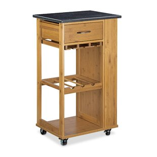Lilith Bamboo Drink Trolley By Alpen Home