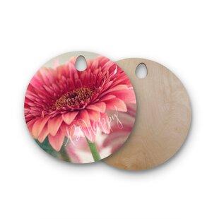 Robin Dickinson Birchwood Be Happy Floral Cutting Board ByEast Urban Home