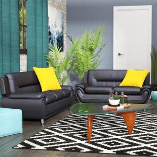 Gaudreau 2 Piece Leather Living Room Set by Orren Ellis