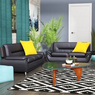 Searching for Gaudreau 2 Piece Leather Living Room Set by Orren Ellis Reviews (2019) & Buyer's Guide