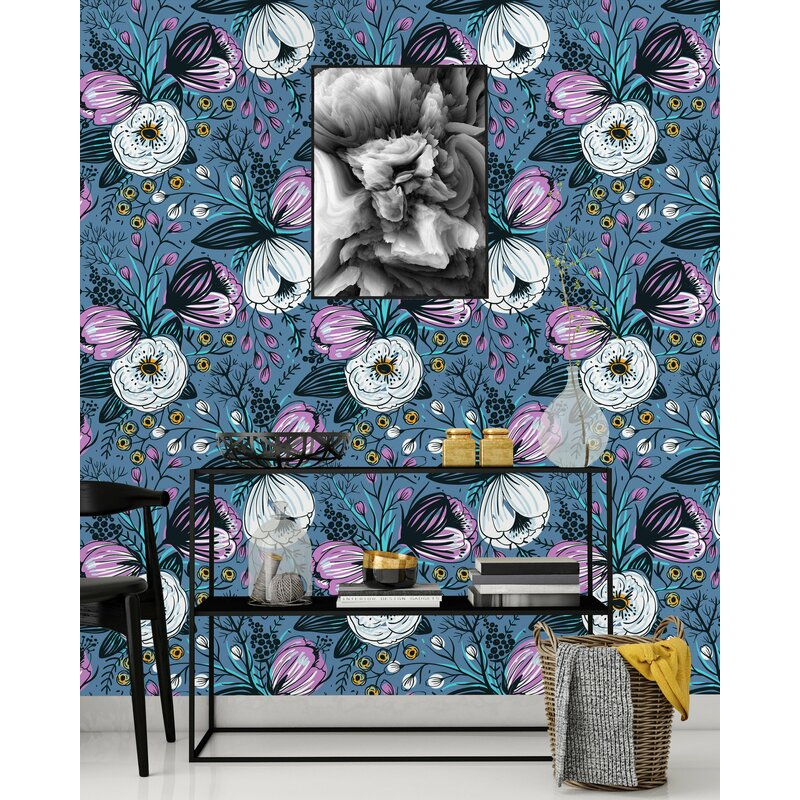 Winston Porter Sylvan Place Vintage Flowers 100 L X 25 W Peel And Stick Wallpaper Panel Wayfair