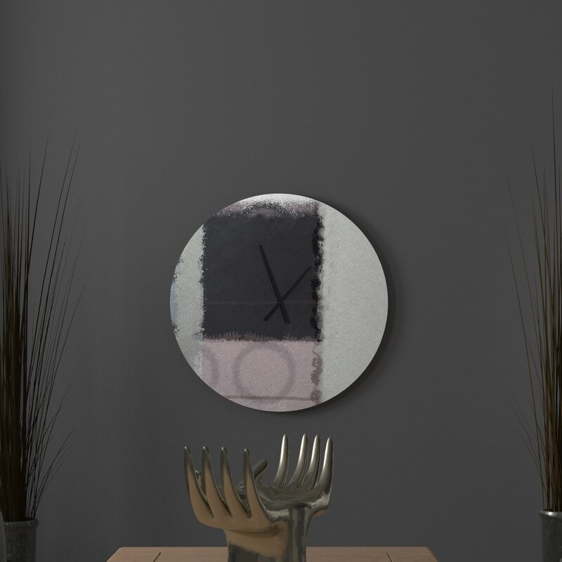 Latitude Run Authoritative Yern Abstract Metal Wall Clock Wayfair