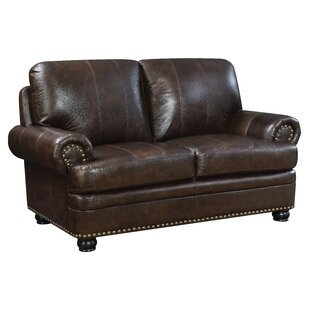 Alamosa Transitional Leather Loveseat by ..
