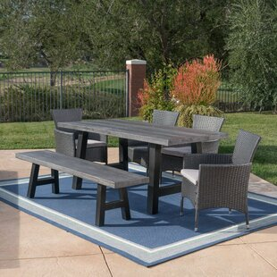 Hudnall Outdoor 6 Piece Dining Set with Cushions