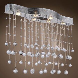 Drops of Rain 6-Light Cluster Pendant by WeGotLites
