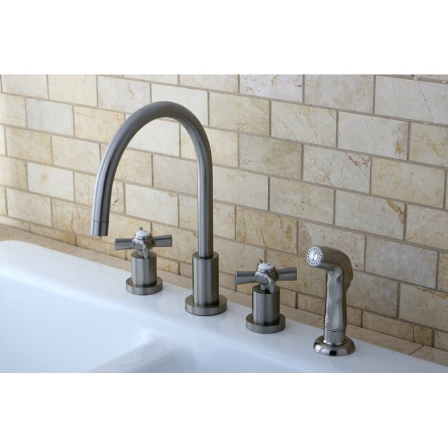 Kingston Brass Millennium Widespread Kitchen Faucet Reviews Wayfair