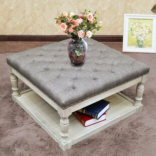 Macsen Shelved Tufted Cocktail Ottoman