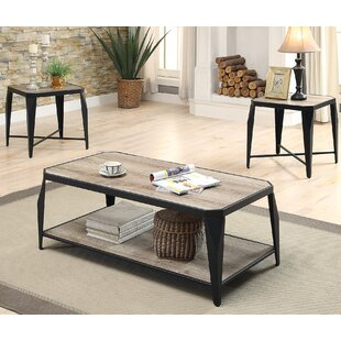 A&J Homes Studio Oldlake 3 Piece Coffee Table Set