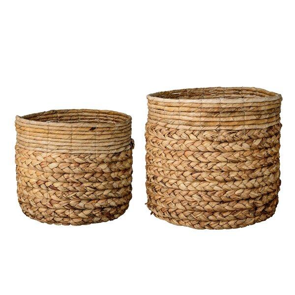 2 Piece Wicker Basket Set Reviews Allmodern