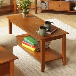 cherry coffee tables you'll love   wayfair