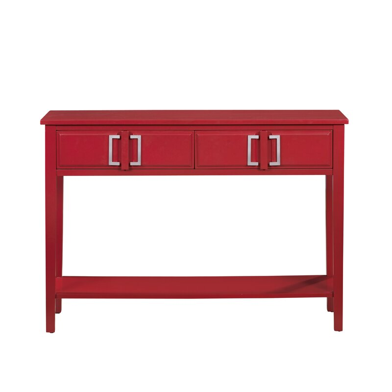 Red Barrel Studio Falco 2 Drawer Console Table Reviews Wayfair
