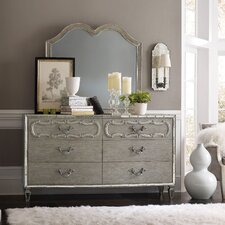 Sanctuary 6 Drawer Double Dresser with Mirror by Hooker Furniture