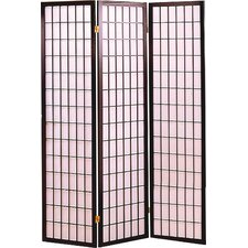 70.25 x 51.75 Olympia Folding 3 Panel Room Divider by Wildon Home