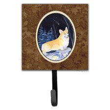 Starry Night Corgi Leash Holder and Wall Hook by Caroline's Treasures