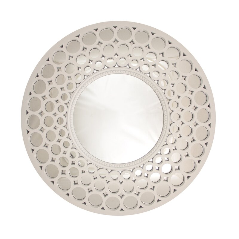 Round Wall Mirror northlight glamorous cascading orbs framed round wall mirror