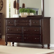 Butlerville 7 Drawer Dresser and Mirror by Alcott Hill