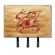 Cooked Crab Sandy Beach Leash and Key Holder by Caroline's Treasures