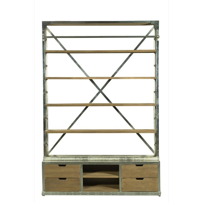 """Cdi International Industrial Kitchen Cart With Mango Top: CDI International Industrial 93"""" Etagere Bookcase"""