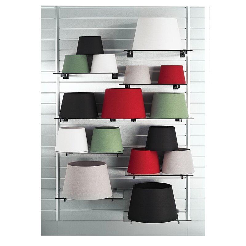wayfair basics 45 5 cm lampenschirm aus stoff. Black Bedroom Furniture Sets. Home Design Ideas