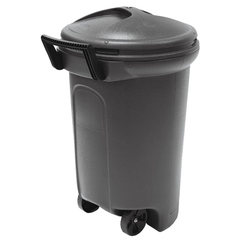 brute 32 gallon blue trash can