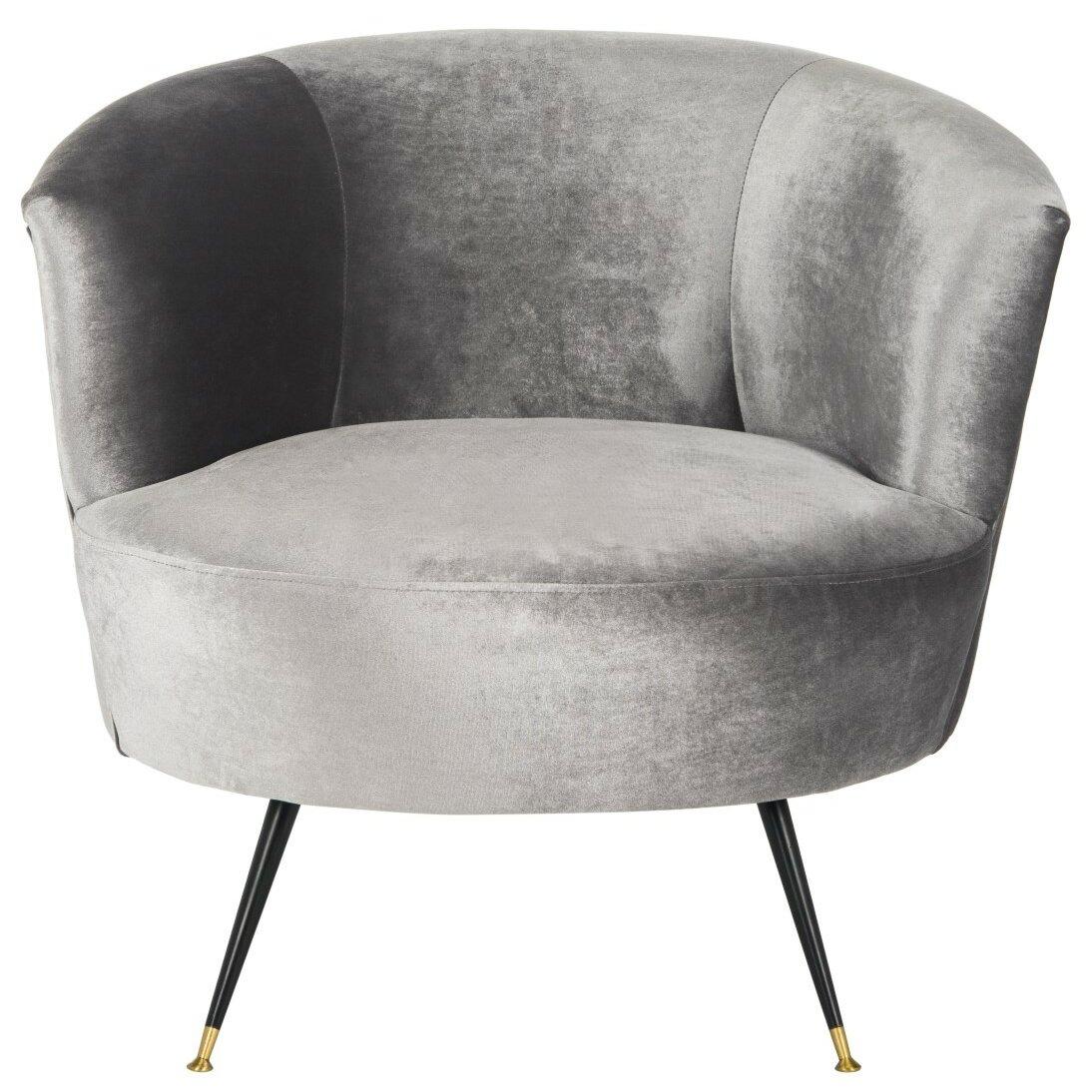 Snodland Velvet Retro Mid Century Barrel Chair Amp Reviews