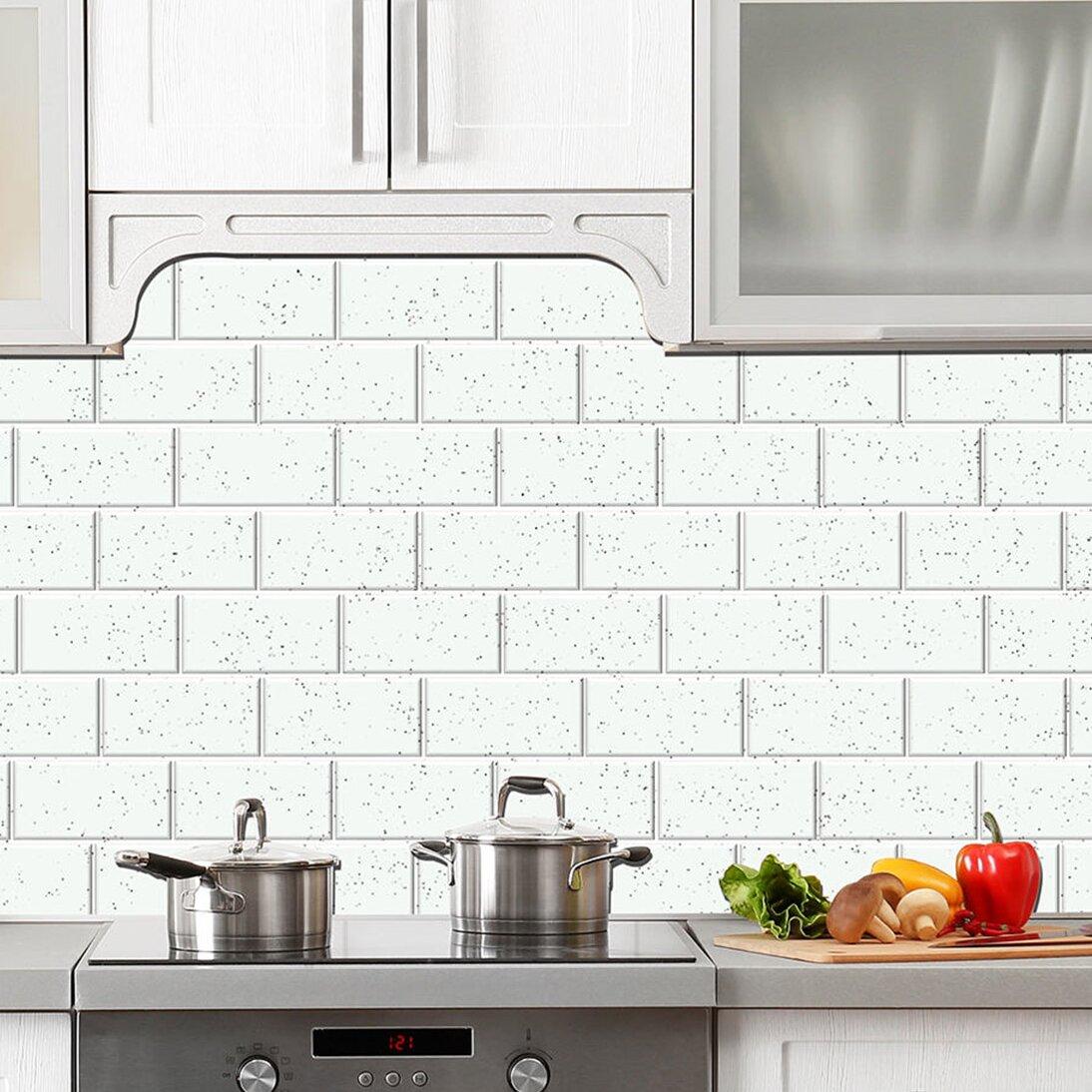 skinnytile 6 x 3 glass peel and stick subway tile in white. Black Bedroom Furniture Sets. Home Design Ideas