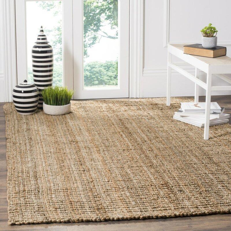 charlton home gaines hand-woven brown area rug & reviews | wayfair