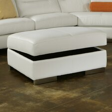 Park Tower Jumbo Leather Ottoman by Omnia Leather