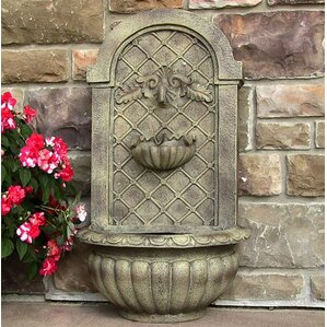 polystone venetian outdoor wall fountain
